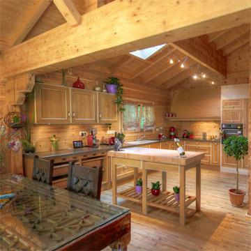 Construction maison en bois massif finn est for Constructeur de maison en bois massif